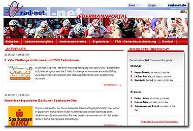 Neues Jedermannportal von «rad-net» jetzt online