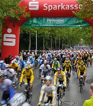 Jedermannrennen des Münsterland Giro starten im Zentrum Nord