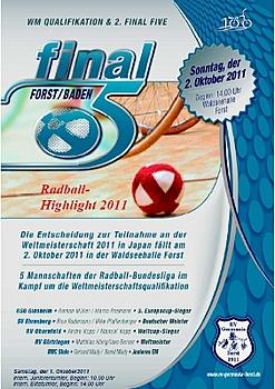 Radball: 2. Final-Five-Turnier kann erste Vorentscheidung bringen