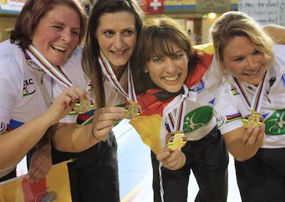 Aacher 4er Kunstrad-Weltmeisterinnen treten vom Leistungsport zurück