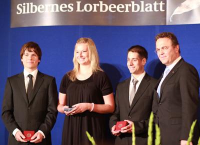Kunstradsportler erhalten Silbernes Lorbeerblatt