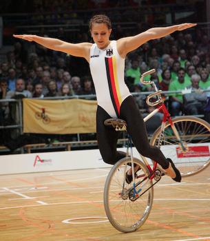 Sandra Beck holte bei der Hallen-WM in Aschaffenburg zum fünften Mal Silber. Foto: Mareike Engelbrecht