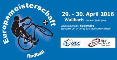 Radballer spielen in Wallbach um den EM-Titel