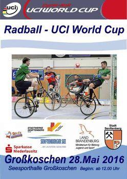 Radball-Weltcup 2016 startet in Großkoschen