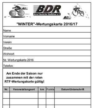 Breitensport: Winter-Wertungskarte 2016/2017 online abrufbar