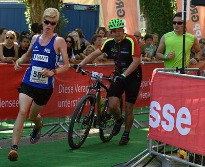 Hobbysportler beim Bodensee Megathlon 2016. Foto: Sauser Event GmbH