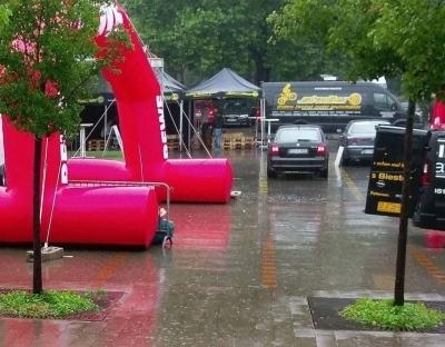 In Hannover regnet es ud weitere Unwetter sind vorausgesagt. Foto: Bernd Schmidt