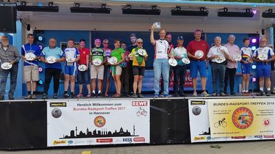 Bundes-Radsport-Treffen in Hannover - Großes Finale und Ehrungen in Hannover. Foto: Bernd Schmidt