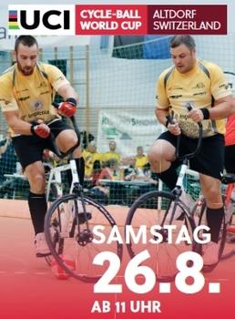 Radball-Weltcup in Altdorf: Stein spielt um die Führung