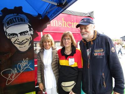 Monique Altig, Sissi und Jockel Faulhaber (v. li.) freuen sich auf die 3. «Tretro» in Sinsheim. Foto: Veranstalter