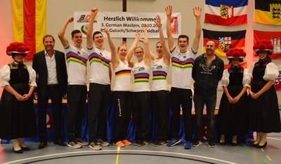 Die Sieger von Gutach sind auch die Gewinner der German Masters-Serie 2017. Sulpina, Kohl, Thürmer/Thürmer und Bugner/Bugner nahmen den German-Masters-Titel mit nach Hause. Foto: Uli Hugger