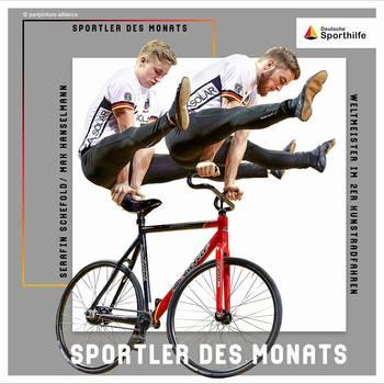 Kunstrad-Weltmeister Serafin Schefold und Max Hanselmann sind Sportler des Monats