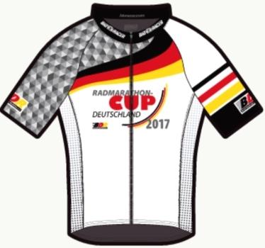 Finisher-Trikots des Radmarathon-Cup Deutschland sind unterwegs