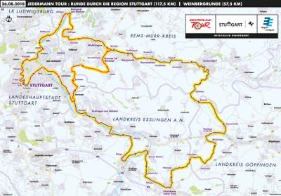 Jedermann-Tour auf attraktiven Strecken durch Stuttgart und die Region