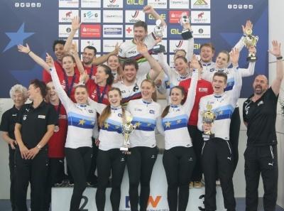 Das erfolgreiche BDR-Team bei der Hallen-EM. Foto: BDR