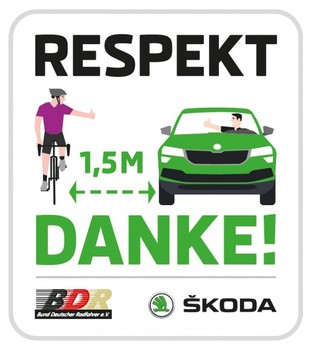 BDR und ŠKODA starten Kampagne für gegenseitigen Respekt im Straßenverkehr