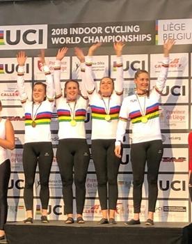 WM-Gold für deutschen Kunstrad-Vierer