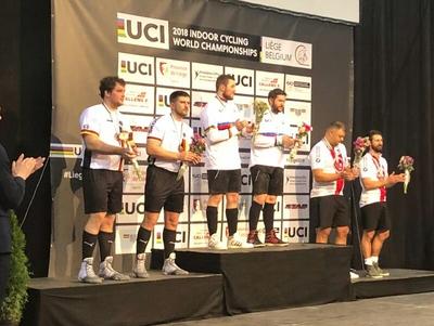 Gerhard und Bernd Mlady (li.) mussten sich den Österreichern Patrick Schnetzer/Markus Bröll (Mitte) geschlagen geben; Dritte wurden die Schweizer Roman Schneider/Paul Looser. Foto: privat