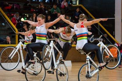 Am Samstag geht der Kunstradsport-Weltcup in Prag in seine zweite Runde. Foto: Twitter UCI Indoor