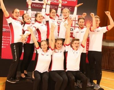 Die erfolgreiche BDR-Mannschaft mit der neuen Weltredkord-Halterin Milena Slupina (links oben). Foto: BDR