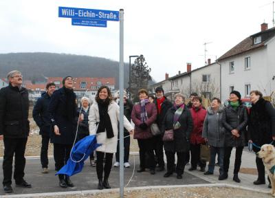 In Lörrach-Haagen wurde die Willi-Eichin-Straße enthüllt. Foto: Thomas Loisl Mink