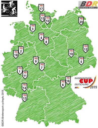 Radmarathon-Cup Deutschland startet am 1. Mai in die Saison 2019