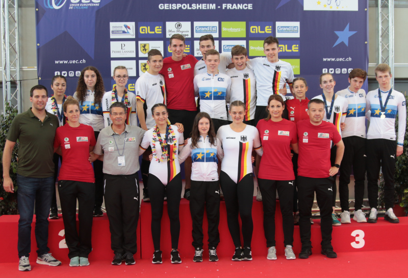 Das erfolgreiche deutsche EM-Team in Geispolsheim. Foto: Wilfried Schwarz