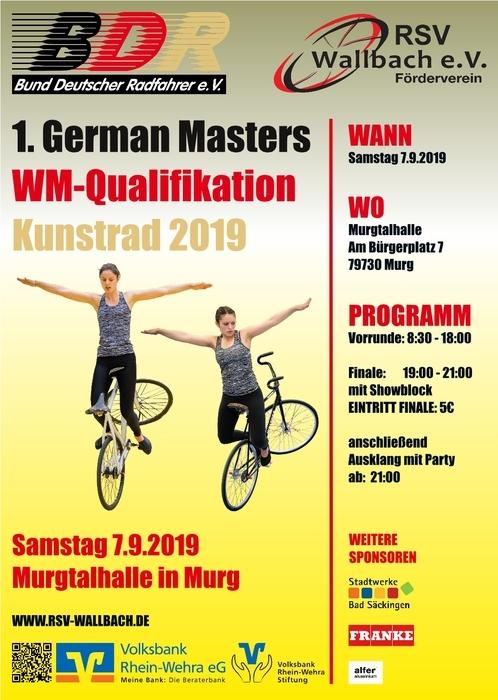Kunstrad: Drei Weltrekorde beim 1. German Masters