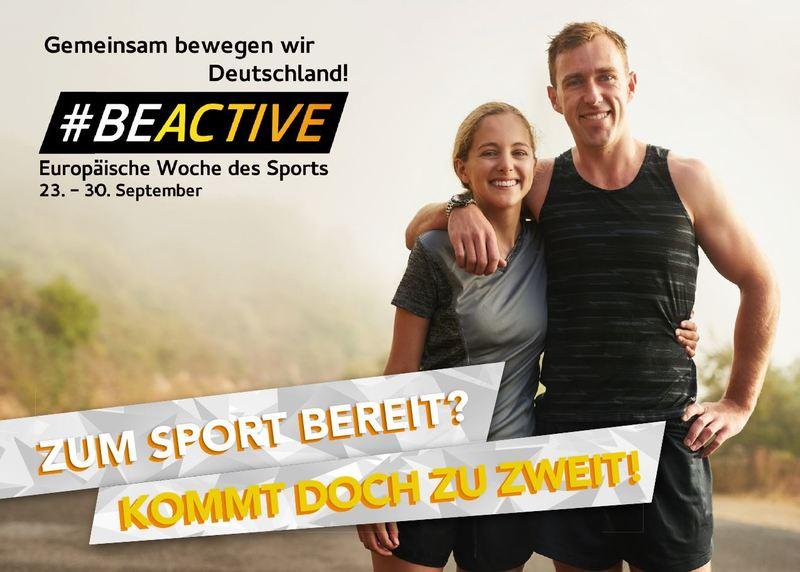 «#BeActive»: Europäische Woche des Sports lädt zu mehr Bewegung ein