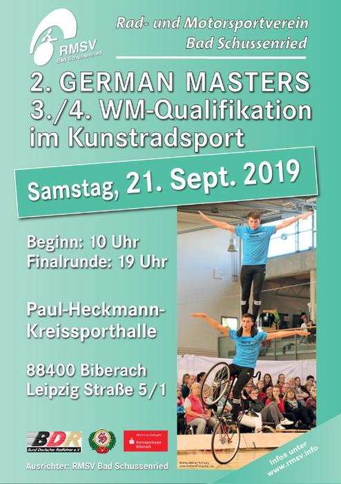 Deutsche Kunstradsportler auch beim 2. German Masters stark
