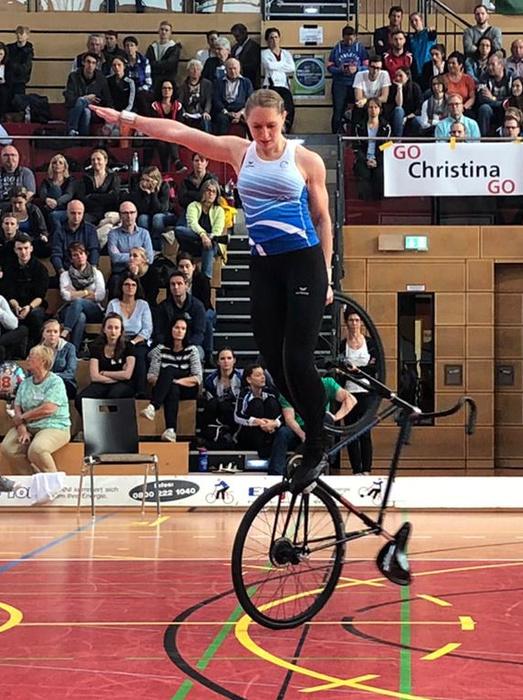 Milena Slupina war im 1er Kunstfahren der Frauen nicht zu schlagen. Foto: privat