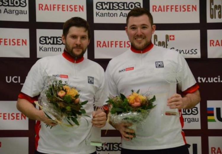 Markus Bröll (li.) und Patrick Schnetzer gewannen die Radball-Weltcup 2019. Foto: RC Höchst