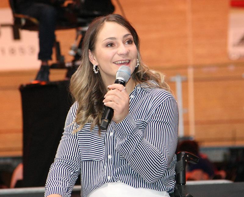 Kristina Vogel unterstützt die Kampagne «stayhome». Foto: Mareike Engelbrecht