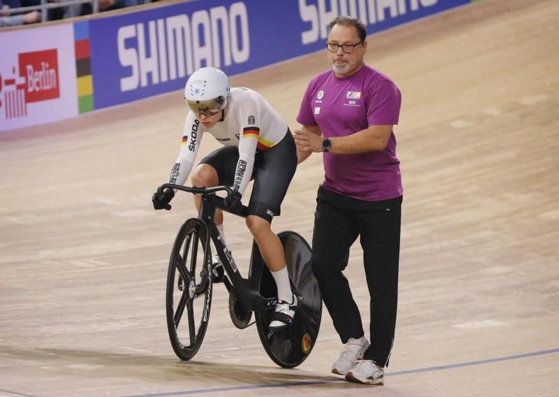 Detlef Uibel kann derzeit nicht mit seinen Sportlern wie Emma Hinze trainieren. Foto: BDR