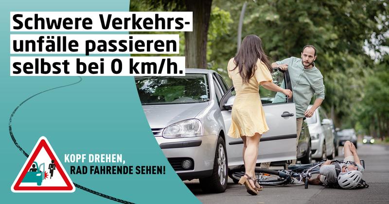 «Dooring»-Unfälle können durch «holländischen Griff» vermieden werden