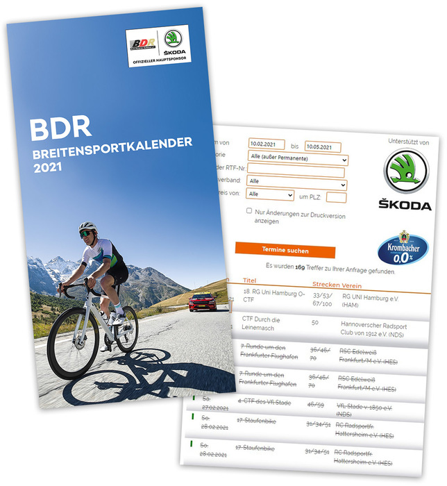 BDR-Breitensportkalender 2021 online abrufbar
