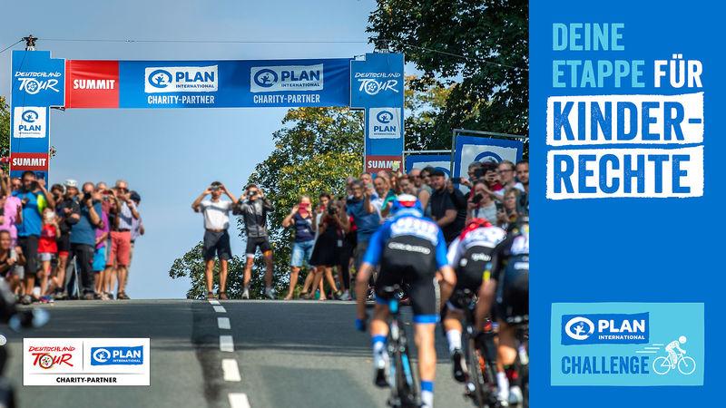 Hobbyradsportler können bei der Deutschland-Tour vor den Profis auf die Strecke gehen und gleichzeitig Spenden für den guten Zweck sammeln. Grafik: Veranstalter