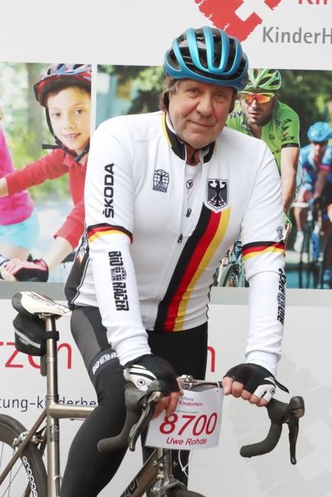 BDR-Vizepräsident Uwe Rohde radelt für herzkranke Kinder