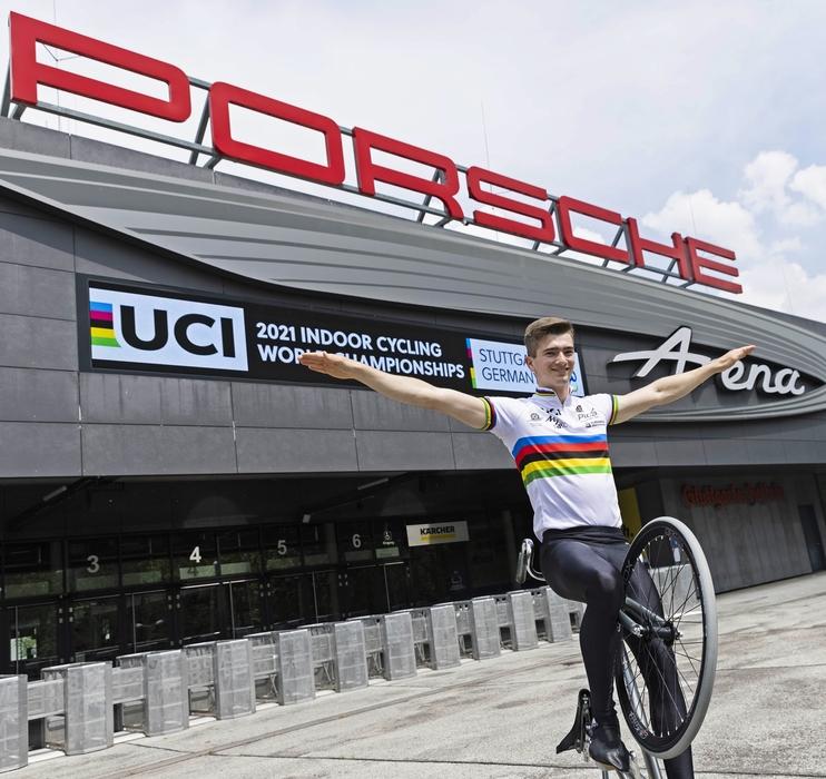 Lukas Kohl freut sich auf die WM in der Porsche-Arena von Stuttgart. Foto: Tom Weller